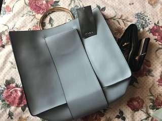 Zara Grey Handbag with Sling