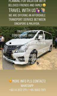 Singapore to Malaysia MPV services