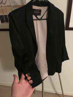 River island satin blazer black 8