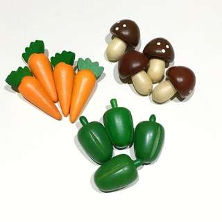 Miniature Wooden Vegetables