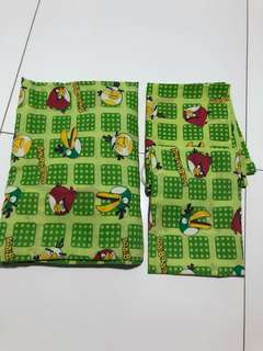 Angry Birds Single Fitted Bedsheet + 1 Pillow Case + 1 Bolster Case