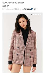 Urban outfitters checkered blazer