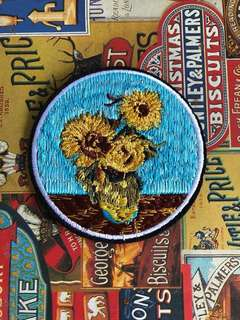 🚚 Sunflower iron on patch