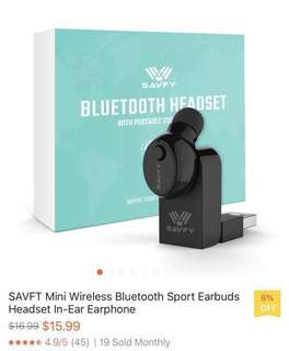 BNIB SAVFY Mini Wireless Bluetooth Earbud Headset