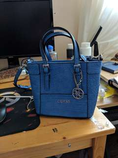 Guess hand bag blue