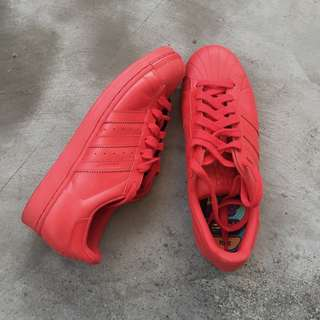 "ADIDAS X Pharell Williams Superstar ""Supercolor Pack"" Red"