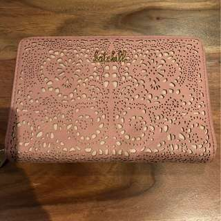Kate Hill Pink Lace Cut Out Clutch