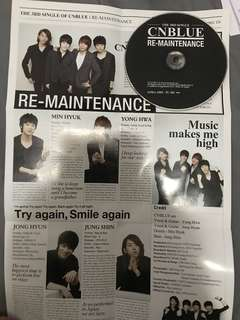 CNBLUE 日單 2011 re-maintenance