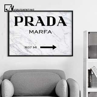 (PO) Marble Prada Canvas Wall Art