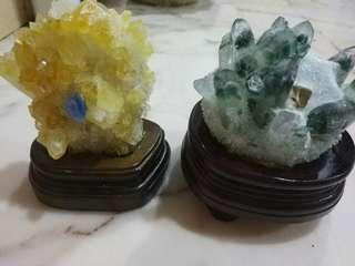 黄幽灵 & 绿幽灵 簇 crystal