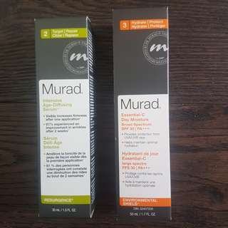 Dr. Murad skin care products.  Still sealed