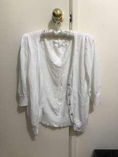 NESS white cardigan