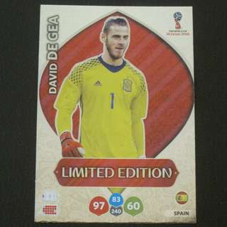 2018 World Cup Russia Panini Adrenalyn Limited Edition - David DE GEA #Spain