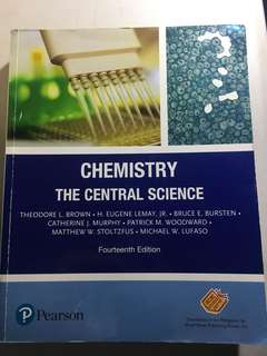 Chemistry: The Central Science by Brown et al (14th edition)
