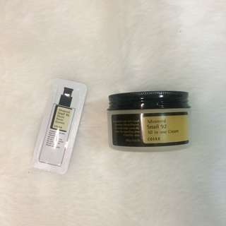 Cosrx Advance Snail 92 cream + a freebie
