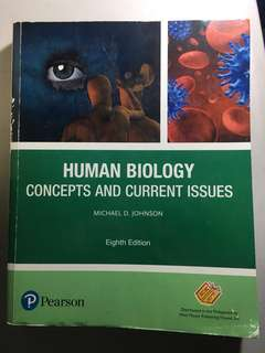 Human Biology: Concepts and Current Issues by Johnson (8th edition)