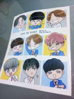 EXO LOVE ME RIGHT STICKER BY SINGNU
