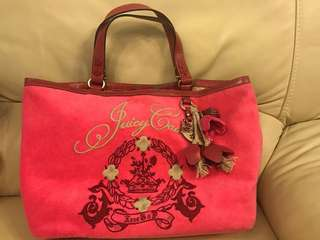 Juicy Couture Tote Bag 100% Real 玫紅色 桃紅色 Hot Pink 手袋 側背袋