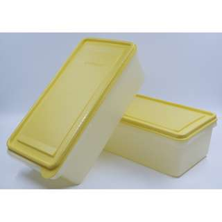 Tupperware Clearance - Rectangular, yellow container X2