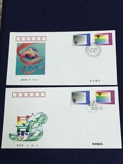 China Stamp- 1995-21 A/B FDC