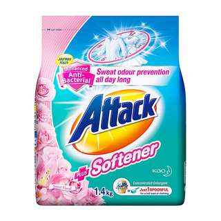 Attack Anti-Bacterial Power Detergent Plus Softener, 1.4kg