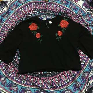 H& embroidered top free sf