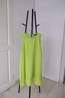 Lime Green Loose Dress