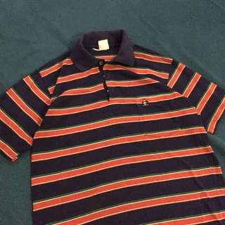 stripes polo with penguin embroidered  shirt