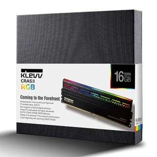 KLEVV 3200MHz 16GB (2 x 8GB) CRAS2 RGB LED DDR4 DRAM