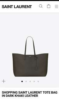 YSL 灰色 Tote Bag