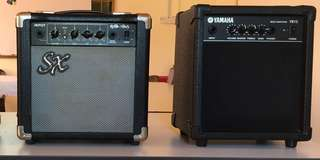 Yamaha Bass amp and SX Guitar amp