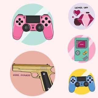 Game theme sticker