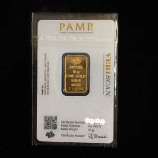 PAMP pure gold bars 10gr