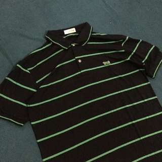 riosport leopard stripes green polo shirt