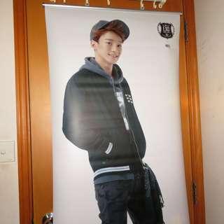 EXO Chen官方等身掛軸