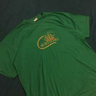 PORTUGAL EMBROIDERED GREEN SHIRT