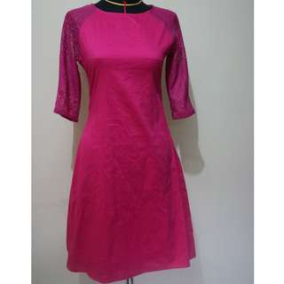 pink fuschia dress