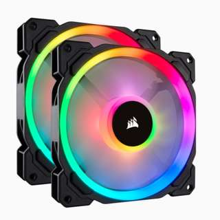 Corsair LL140 RGB 2 Fan Pack with Lighting Node Pro