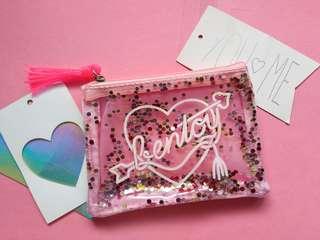 Glittery coin purse pink 👝
