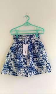 🚚 專櫃青花瓷繃帶短裙