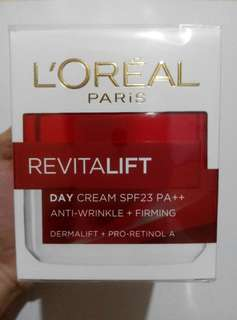 NEW L'oreal Revitalift Day Cream SPF23 PA++ Anti Wrinkle + Firming
