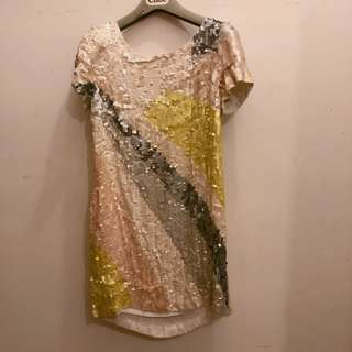 French Connection sequins dress 重手工珠片連身裙