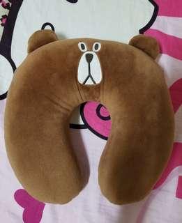 可愛小熊頸枕(可拆套清洗)