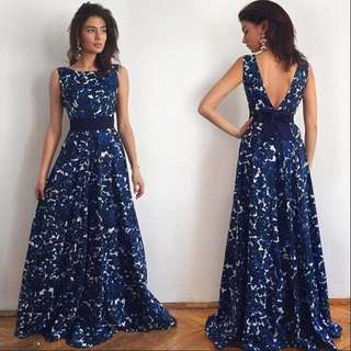 Free Shipping Promotion-15-25 Shipping Time for Sexy Women Floral Long Formal Prom Dress