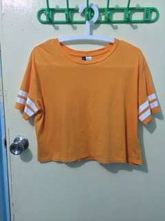 H&M Mustard Crop Top