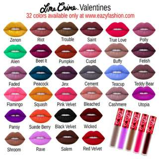 Lime Crime Lippies