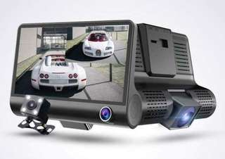 3 channels camera video car dvr