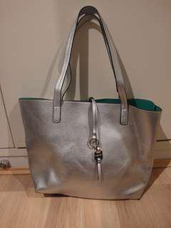Marcs Reversible Tote in Silver