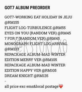 GOT7 ALBUM PREORDER