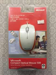 🚚 Microsoft Compact Optical Mouse - White/Orange #CarouPay